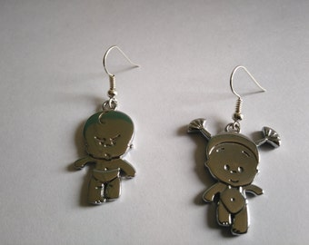 Earrings silver baby girl and boy original gift for girl or woman