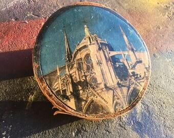 Paris Church wood block print