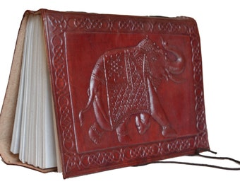 """Leather Vintage Hand Made Paper Journal Notebook Diary Traditional 5"""" x7"""""""