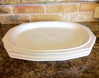 Pfaltzgraff Heritage White 14 inch Large Oval Serving Platter