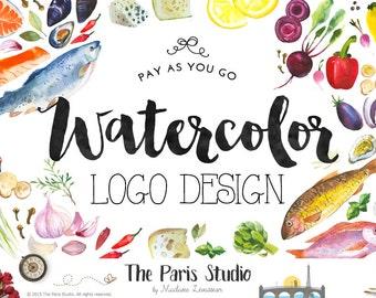 Custom Logo Design Fruits Logo Pay As You Go Food Logo Restaurant Branding Veggie Logo Food Blog Logo Design Website Logo Health Blog Logo