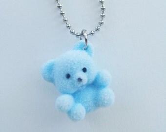 Blue Teddy Bear Necklace