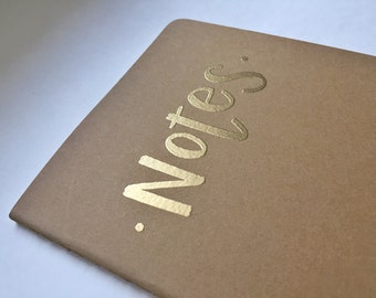 Embossed Moleskine Notebook