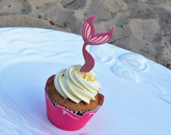 Shimmer Mermaid Tail and Cupcake Wrapper