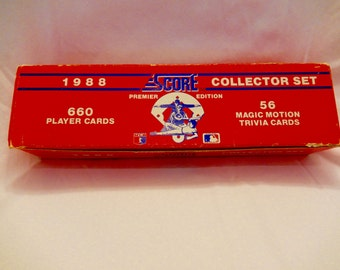 1988 Score Major League Baseball Cards, Premier Edition Collector Set