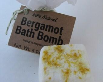 Organic Bath Bomb - Bergamot Bath Bomb - Bath Bomb Gift -All Natural Bath Bomb - Aromatherapy Bath Bomb - Spa Gift - Gift for Her - 4oz