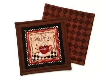 Mug Rug - Snack Mat - Cafe Fabric Coaster