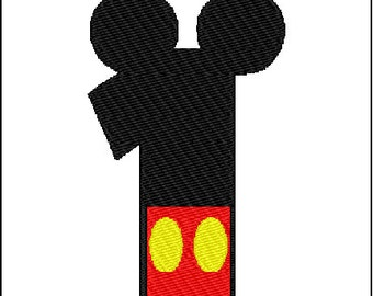 Mickey Mouse First Birthday Embroidery Design