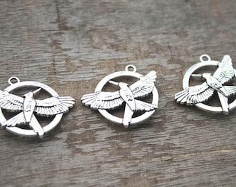 5pcs--catching fire Charms, Antique Tibetan Silver catching fire charm pendants 25mm D1118