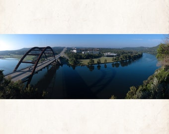 360 Bridge-Pennybacker Bridge Over Lake Austin Photo Wall Art Decor