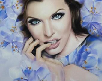 Milla. Pastel portrait.