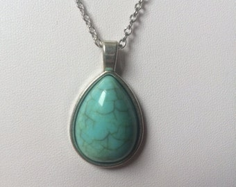 Vintage Style Turquoise Drop Necklace