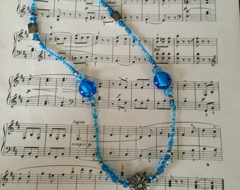 Totally Teal beaded necklace