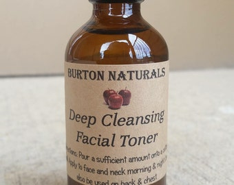 Deep Cleansing Acne-Fighting Facial Toner with Apple Cider Vinegar