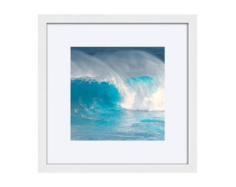 beach decor, aqua, teal, ocean surf, framed prints, wall art, living room, bedroom, bathroom pictures, turquoise, photography, ready to hang