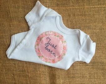 Just Born Baby Onesie - Girl