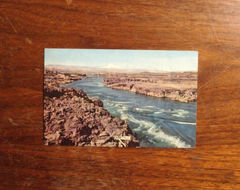Vintage Postcard, UNUSED, Columbia River, Cascade Mountains, mid century