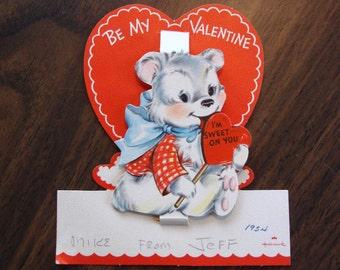 Vintage Valentine, USED, 1950s, no envelope, Ranch House Vintage