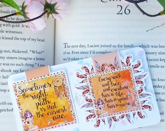 Bookish Quote Magnetic Bookmarks