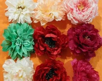 Lot of 9 flower heads