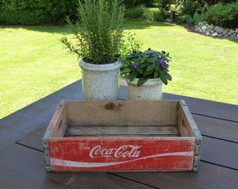 Vintage Coca Cola crate as a decoration / tray