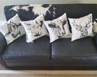 """18"""" Screen Printed Pillow Cover + Insert"""
