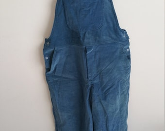 Light blue corduroy overalls