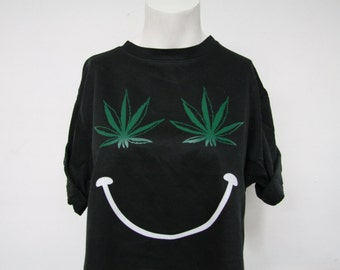 Recycled Pot Smiley Face Crop Top