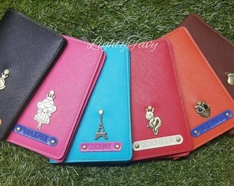 Customized Passport Holder / Personalised Passport Cover (Colorful Saffiano good quality Leather)