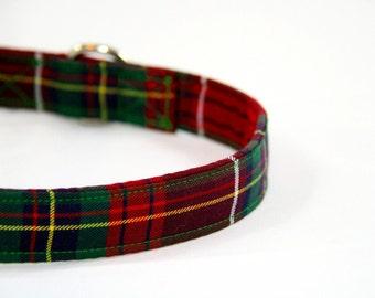 Rose Tartan Scottish Plaid Dog Collar Handmade