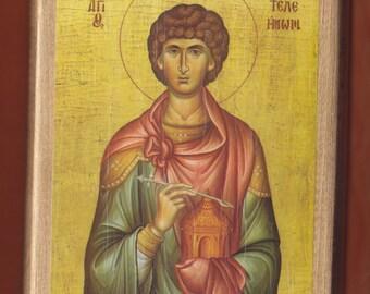 Agios Panteleimon, The GREAT. Christian orthodox icon.FREE SHIPPING