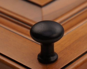 """1-1/8"""" Tall Round Iron Cabinet Knob - Solid Cast Iron (5, 10, or 25)"""