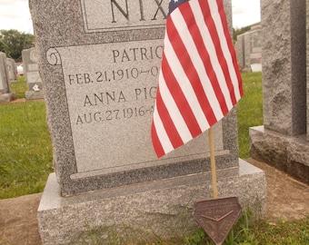 FRA Metal Grave Marker and Flag Holder