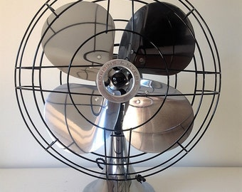 Antique desk fan Robbins & Myers C-16 restored