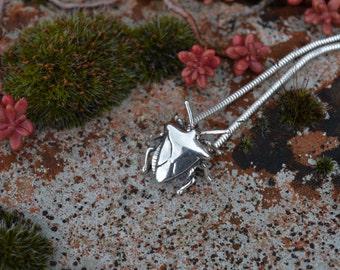 Sterling Silver Pendant: Shieldbug