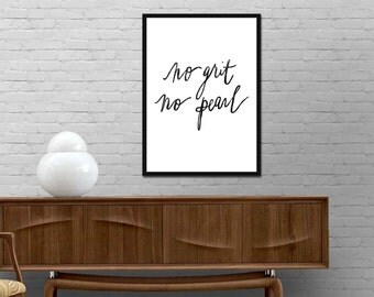 No grit No pearl Print Motivational Quote Print Minimalist Poster Modern Design Typography wall art decor Best price canvas art