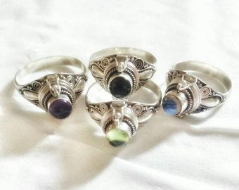 Srada Bali Silver Poison Ring