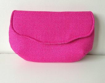Pink clutch, Small clutch, Wedding clutch, Bridesmaid clutch, Pink purse, Bridesmaid purse, Wedding purse, Fabric clutch