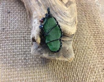 Sea Glass green pendant.