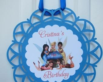 Fairy Theme Birthday Door Sign ,Pixie Hollow theme
