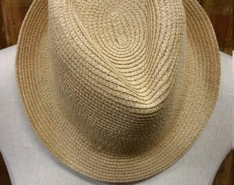 Vintage Paper Straw Sun Hat
