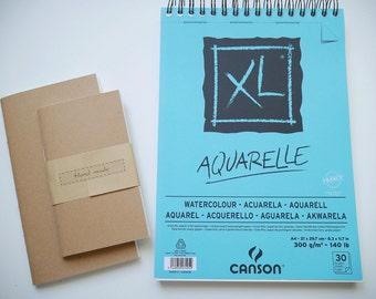 Watercolor insert for regular/personal/fieldnotes size traveler's notebook