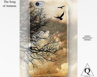 iPhone 6 Plus Case Pastel, iPhone 6 Case Bird, iPhone 6s Case Clouds, iPhone 5s Case Tree, iPhone 5c Case Sky, Present for Her, iPhone Cases