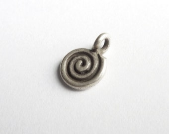 Spiral pendant silver 925 -P035G