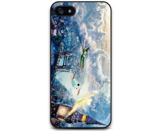 Peter Pan iPhone 5 5S 5C, iPhone 6/6S Plus Case Flying Over London, Tinker Bell & Wendy