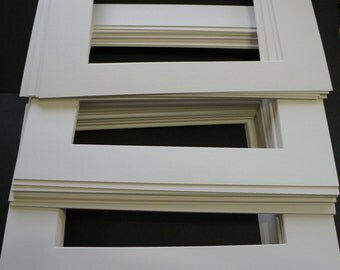 Frame Mats Frame Matting 35 Ivory Off White 11x14 Mat Boards for Framing, 8x10 Opening, Solid Quality Matboards