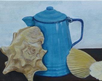 Seaside Coffee and Shells