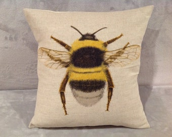 Bee cushion cover, pillow cover to fit 16'' X 16'' inner pad