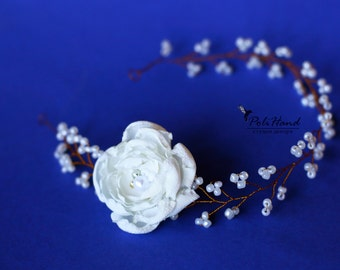 Wedding hair ornament, wedding hairpin, bridal wreath