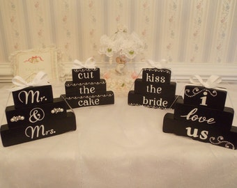 Wedding Decor:  Stackable Wooden Blocks ON SALE!